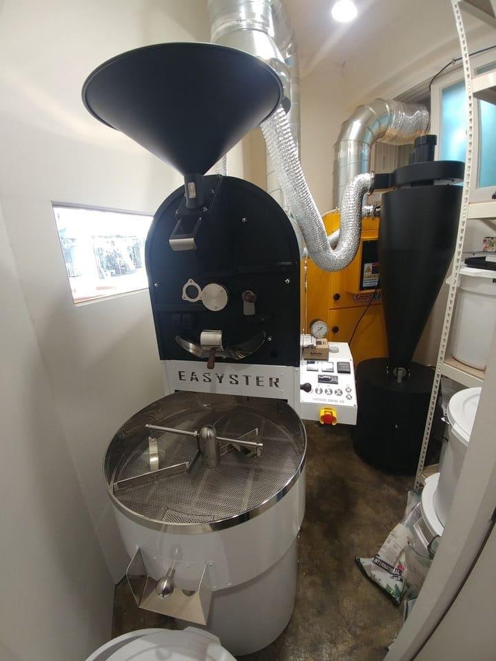 설치공간 최소화 수평형 전기 집진기 커피로스팅 전문점 설치