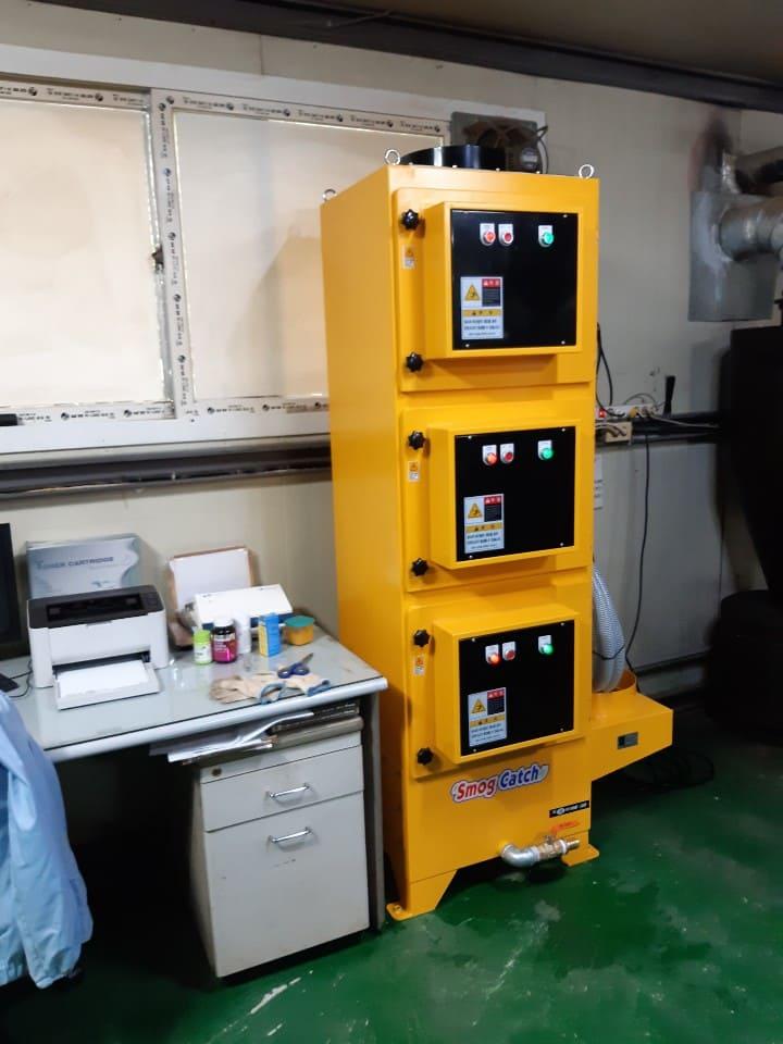 커피로스팅공장 빈마스터 15kg 연기제거 전기집진기 설치